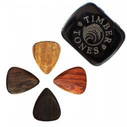 Timber Tones Electric Guitar Mixed Tin of 4 Guitar Picks